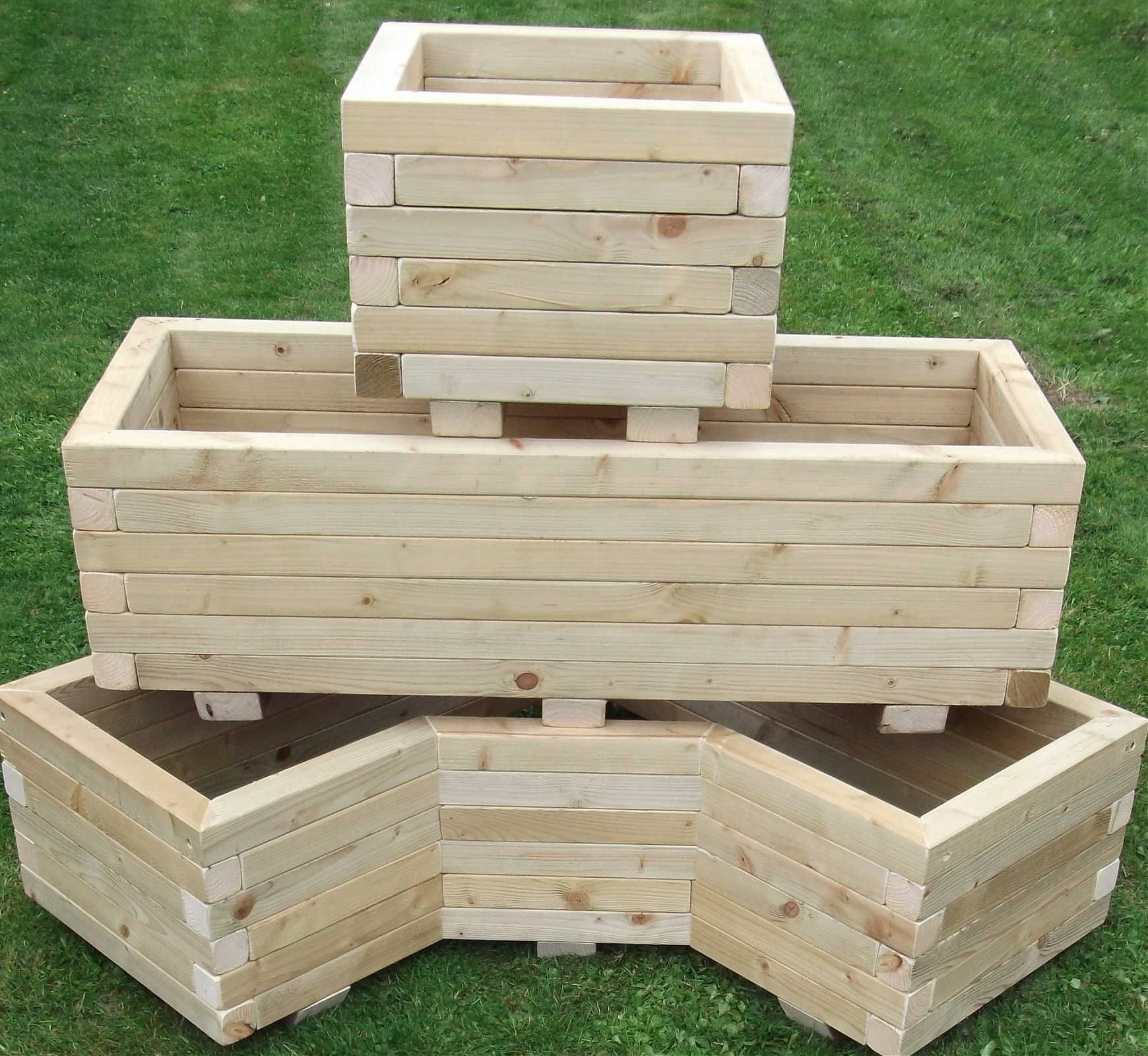 Wooden Trough Planters- Extra Wide
